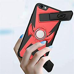 Недорогие Кейсы для iPhone 6-Кейс для Назначение Apple iPhone 8 / iPhone 8 Plus Кольца-держатели / Игровой случай Кейс на заднюю панель Однотонный Твердый ПК для