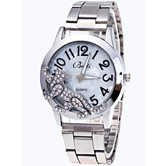 お買い得  レディース腕時計-女性用 リストウォッチ 中国 クロノグラフ付き / キュート / かわいい ステンレス バンド バングル / ファッション シルバー / ゴールド