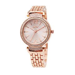お買い得  レディース腕時計-女性用 リストウォッチ 日本産 模造ダイヤモンド 合金 バンド ファッション / エレガント ローズゴールド