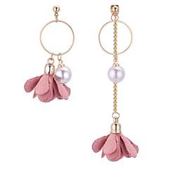 preiswerte Ohrringe-Damen Tropfen-Ohrringe - Künstliche Perle Blume Retro, Modisch, Nicht übereinstimmen Grau / Rot / Rosa Für Schultaschen Verabredung