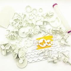 お買い得  ベイキング用品&ガジェット-ベークツール プラスチック 多機能 / クリエイティブ / 調整可 パン / ケーキ / クッキー 円形 耐熱皿セット / ケーキ型 / ベーキング&ペストリーツール 68個