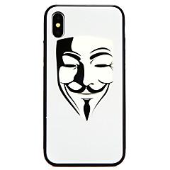Недорогие Кейсы для iPhone 6-Кейс для Назначение Apple iPhone X / iPhone 8 С узором Кейс на заднюю панель броня Твердый Закаленное стекло для iPhone X / iPhone 8 Pluss / iPhone 8