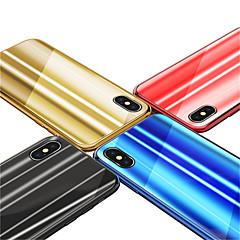 Недорогие Кейсы для iPhone 7 Plus-Кейс для Назначение Apple iPhone X / iPhone 8 Покрытие / Зеркальная поверхность Кейс на заднюю панель Градиент цвета Твердый Закаленное
