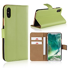 abordables Fundas para iPhone 4s / 4-Funda Para Apple iPhone X / iPhone 8 Cartera / Soporte de Coche / Flip Funda de Cuerpo Entero Un Color Dura Cuero de PU para iPhone X / iPhone 8 Plus / iPhone 8