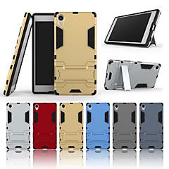 Недорогие Чехлы и кейсы для Sony-Кейс для Назначение Sony Xperia Z5 Premium со стендом Кейс на заднюю панель Однотонный Твердый ПК для Sony Xperia Z5 Premium