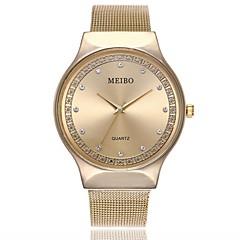 preiswerte Damenuhren-Herrn / Damen Kleideruhr / Armbanduhr Chinesisch Armbanduhren für den Alltag / Imitation Diamant Legierung Band Freizeit / Modisch Silber / Gold / Rotgold