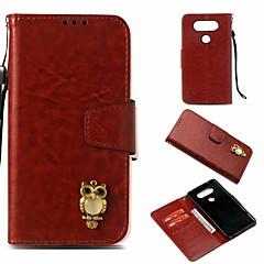 Недорогие Чехлы и кейсы для LG-Кейс для Назначение LG V20 Кошелек / Бумажник для карт / со стендом Чехол Сова Твердый Кожа PU для LG V20