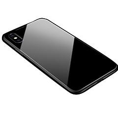 Недорогие Кейсы для iPhone 6 Plus-Кейс для Назначение Apple iPhone X / iPhone 8 Прозрачный / Магнитный Кейс на заднюю панель Однотонный Твердый Алюминий для iPhone XS / iPhone XR / iPhone XS Max