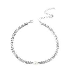 preiswerte Halsketten-Damen Dicke Kette Halsketten  -  Künstliche Perle Einfach, Europäisch, Modisch Gold, Silber 30 cm Modische Halsketten 1pc Für Alltag