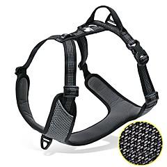 お買い得  犬用首輪/リード/ハーネス-犬用 / ペット用 ハーネス / 反射バンド 反射 / 携帯用 / サイズが調整できます. ソリッド オックスフォード / ネット / ナイロン オレンジ / グレー / イエロー