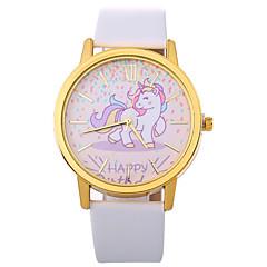 preiswerte Damenuhren-Xu™ Damen Kleideruhr / Armbanduhr Chinesisch Kreativ / Armbanduhren für den Alltag / Großes Ziffernblatt PU Band Zeichentrick / Modisch Schwarz / Weiß / Blau