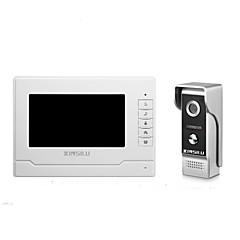 abordables Sistemas de Control de Acceso-xinsilu seguridad 7inch videoportero puerta timbre timbre intercomunicador sistema de control de acceso xsl-v70n-m4
