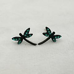 preiswerte Ohrringe-Damen Skulptur Ohrstecker - Schmetterling Europäisch, Modisch, nette Art Schwarz Für Geschenk / Alltag