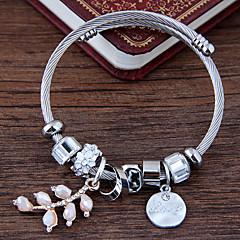 preiswerte Armbänder-Damen Mehrschichtig Bettelarmbänder - Blattform, Blume Europäisch, Modisch Armbänder Weiß / Rosa Für Alltag