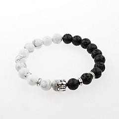 preiswerte Armbänder-Herrn Strang-Armbänder - versilbert Einfach, Natur, Modisch Armbänder Weiß Für Geschenk Alltag