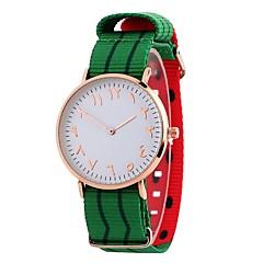 お買い得  レディース腕時計-女性用 ドレスウォッチ / リストウォッチ 中国 カジュアルウォッチ / 愛らしいです / 大きめ文字盤 生地 バンド カジュアル / ファッション ブラック / ブルー / グリーン