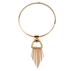 お買い得  ネックレス-女性用 ステートメントネックレス  -  タッセル, ファッション ゴールド 50 cm ネックレス 1個 用途 日常, カーニバル