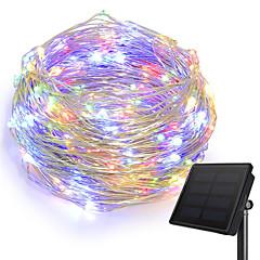 preiswerte LED Lichtstreifen-KWB 10m Leuchtgirlanden 100 LEDs 1Set Montagehalterung Warmes Weiß / Weiß / Blau Solar / Kreativ / Wasserfest Solarbetrieben 1set