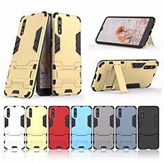 お買い得  Huawei Pシリーズケース/ カバー-ケース 用途 Huawei P20 / P20 Pro スタンド付き バックカバー 鎧 ハード PC のために Huawei P20 / Huawei P20 Pro / Huawei P20 lite / P10 Plus / P10 Lite / P10