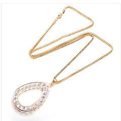 preiswerte Halsketten-Damen Kubikzirkonia Anhängerketten  -  vergoldet Tropfen Modisch Gold 75 cm Modische Halsketten 1pc Für Geschenk, Alltag