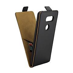 Недорогие Чехлы и кейсы для LG-Кейс для Назначение LG V30 Бумажник для карт / Флип Чехол Однотонный Мягкий Кожа PU для LG V30