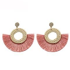 preiswerte Ohrringe-Damen Quaste Tropfen-Ohrringe - Geometrisch, Quaste Rosa / Hellbraun Für Geschenk / Alltag