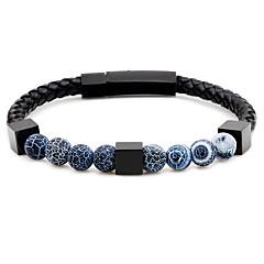 preiswerte Armbänder-Herrn Glasperlen Strang-Armbänder Armband - Rostfrei Modisch Armbänder Grau / Braun / Blau Für Party Zeremonie