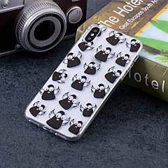 Недорогие Кейсы для iPhone 7-Кейс для Назначение Apple iPhone X / iPhone 8 Plus IMD / С узором Кейс на заднюю панель Животное Мягкий ТПУ для iPhone X / iPhone 8 Pluss / iPhone 8