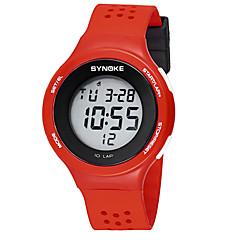 お買い得  メンズ腕時計-SYNOKE 男性用 / 女性用 デジタルウォッチ カレンダー / クロノグラフ付き / 耐水 PU バンド ファッション ブラック / レッド / グレー