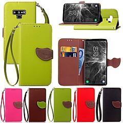 abordables Galaxy Note 5 Carcasas / Fundas-Funda Para Samsung Galaxy Note 9 / Nota 8 Soporte de Coche / con Soporte / Flip Funda de Cuerpo Entero Plantas Dura Cuero de PU para Note 5 / Note 4 / Note 3