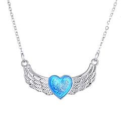 preiswerte Halsketten-Damen Leuchtender Stein Lang Anhängerketten - Herz Modisch Blau 50 cm Modische Halsketten 1pc Für Halloween, Klub