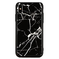 Недорогие Кейсы для iPhone-Кейс для Назначение Apple iPhone X Покрытие Кейс на заднюю панель Мрамор Твердый Закаленное стекло для iPhone X / iPhone 8 Pluss / iPhone 8