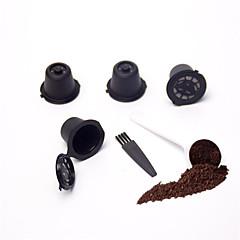 abordables Accesorios para café-El plastico Cocina creativa Gadget / con la escobilla 4pcs Filtro de café