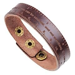 preiswerte Armbänder-Herrn Einzelkette Armreife Lederarmbänder Armband - Leder Buchstabe Klassisch, Modisch Armbänder Schwarz / Kaffee / Braun Für Formal Arbeit
