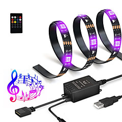 preiswerte LED Lichtstreifen-2m Lichtsets / Leuchtbänder RGB 60 LEDs SMD5050 RGB + Weiß Schneidbar / USB / Wasserfest 5 V / USB angetrieben 1pc