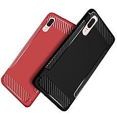 お買い得  Huawei Pシリーズケース/ カバー-ケース 用途 Huawei P20 / P20 lite 耐衝撃 / つや消し バックカバー ソリッド ソフト TPU のために Huawei P20 / Huawei P20 Pro / Huawei P20 lite