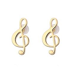 preiswerte Ohrringe-Damen Seil Ohrring - Musiknote nette Art, Franz?sisch, Zigeuner Gold / Silber Für Schultaschen / Praxis