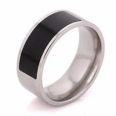 preiswerte Ringe-Paar Harz Klassisch Ring - Titanstahl Kreativ Einfach, Klassisch 6 / 7 / 8 / 9 / 10 Silber Für Hochzeit