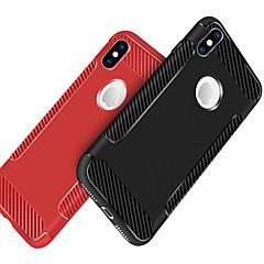 Недорогие Кейсы для iPhone 5-Кейс для Назначение Apple iPhone X / iPhone 8 Защита от удара / Матовое Кейс на заднюю панель Однотонный Мягкий ТПУ для iPhone X / iPhone 8 Pluss / iPhone 8