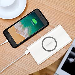 お買い得  モバイルバッテリー-10000 mAh 用途 パワーバンク外付けバッテリ 5 V 用途 2.1 A / 3 A 用途 バッテリーチャージャー ケーブル付き / ワイヤレスチャージャー / 自動電流切替 LED