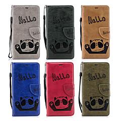 Недорогие Кейсы для iPhone 5-Кейс для Назначение Apple iPhone X / iPhone 8 Plus Кошелек / Бумажник для карт / со стендом Чехол Панда Твердый Кожа PU для iPhone X / iPhone 8 Pluss / iPhone 8