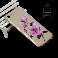 Недорогие Кейсы для iPhone 7-Кейс для Назначение Apple iPhone X / iPhone 8 Защита от удара / Прозрачный / Полупрозрачный Кейс на заднюю панель Цветы Мягкий ТПУ для iPhone X / iPhone 8 Pluss / iPhone 8