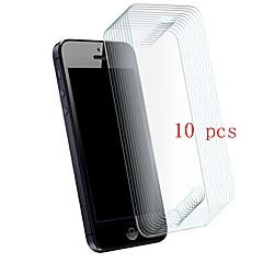 abordables Protectores de Pantalla para iPhone SE/5s/5c/5-Protector de pantalla para Apple iPhone SE / 5s / iPhone 5 Vidrio Templado 10 piezas Protector de Pantalla Frontal Dureza 9H / Anti-Arañazos