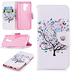 Недорогие Чехлы и кейсы для LG-Кейс для Назначение LG G7 Кошелек / Бумажник для карт / со стендом Чехол дерево Твердый Кожа PU для LG G7