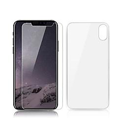 Недорогие Защитные пленки для iPhone X-Защитная плёнка для экрана для Apple iPhone X Закаленное стекло 2 штs Защитная пленка для экрана и задней панели Уровень защиты 9H / Защита от царапин / Против отпечатков пальцев