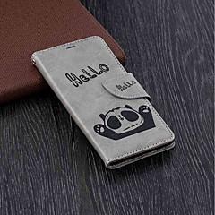 Недорогие Чехлы и кейсы для Nokia-Кейс для Назначение Nokia Nokia 5.1 / Nokia 3.1 Кошелек / Бумажник для карт / со стендом Чехол Панда Твердый Кожа PU для Nokia 5.1 / Nokia 3.1 / Nokia 2.1