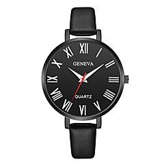 お買い得  レディース腕時計-Geneva 女性用 リストウォッチ 中国 新デザイン / カジュアルウォッチ / クール レザー バンド カジュアル / ファッション ブラック / ブラウン