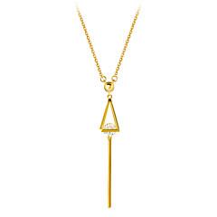 preiswerte Halsketten-Damen Kubikzirkonia Anhängerketten - 18K vergoldet, S925 Sterling Silber Zierlich Gold 40 cm Modische Halsketten Für Geschenk, Festival