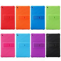 abordables Fundas para Tableta-Funda Para Huawei MediaPad MediaPad M5 8 Antigolpes / con Soporte Funda Trasera Un Color Suave Silicona para MediaPad M5 8