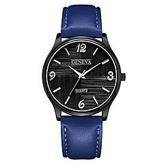 お買い得  レディース腕時計-Geneva 女性用 リストウォッチ 中国 新デザイン / カジュアルウォッチ / クール レザー バンド カジュアル / ファッション ブラック / ブラウン / ネービー